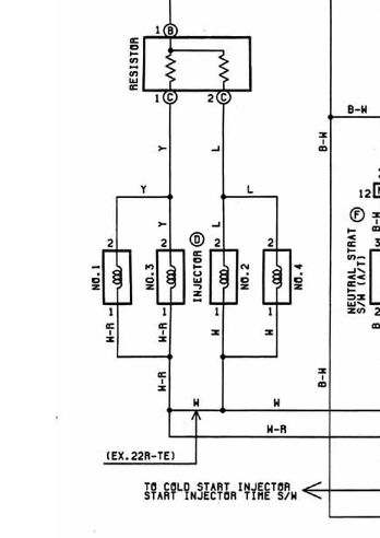 22RE to 22RETE conversion injector prob