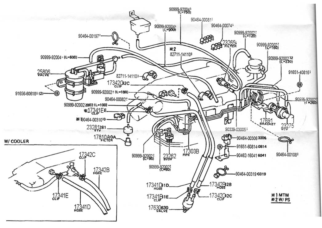 22rte_vacuum_hoses_scan0001 1 vacuum diagrams Toyota 22RE Diagram at edmiracle.co